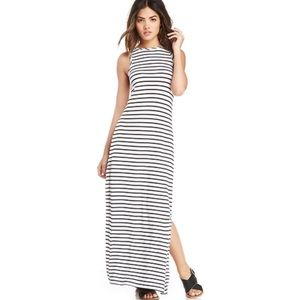 The Fifth Label Chrome Stripe Soft Knit Maxi Dress